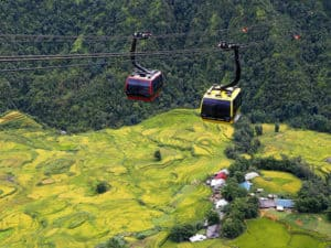 Harvest Week in Sun World Fansipan Legend – Flying over golden Sapa valleys